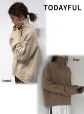 TODAYFUL (トゥデイフル)<br>Superfine Wool Knit  19秋冬.【11920533】ニットトップス