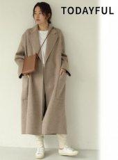 TODAYFUL (トゥデイフル)<br>Wool Over Coat  19秋冬.予約【11920008】ウールコート 受注会