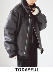 TODAYFUL (トゥデイフル)<br>B-3Flight Jacket  19秋冬.【11920203】レザーアウター
