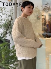 TODAYFUL (トゥデイフル)<br>Vintage Aran Knit  19秋冬.予約【11920525】ニットトップス 受注会