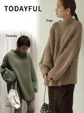 TODAYFUL (トゥデイフル)<br>Oversize Braid Knit  19秋冬.【11920532】ニットトップス