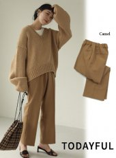 TODAYFUL (トゥデイフル)<br>Stretch Trousers  19秋冬.【11920716】パンツ