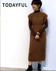 TODAYFUL (トゥデイフル)<br>Sleeveless Pattern Dress  19秋冬.予約【11920329】マキシワンピース