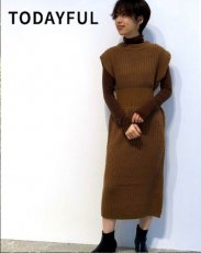 TODAYFUL (トゥデイフル)<br>Sleeveless Pattern Dress  19秋冬.【11920329】マキシワンピース