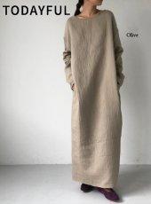 TODAYFUL (トゥデイフル)<br>Bonding Cocoon Dress  19秋冬.【11920326】マキシワンピース