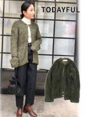 TODAYFUL (トゥデイフル)<br>Boucle Knit Cardigan  19秋冬.【11920523】カーディガン