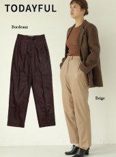 TODAYFUL (トゥデイフル)<br>Ecoleather Trousers  19秋冬.予約【11920723】パンツ 受注会