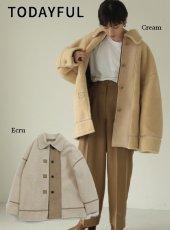 TODAYFUL (トゥデイフル)<br>Bonding Boa Coat  19秋冬.予約【11920005】ブルゾン 受注会