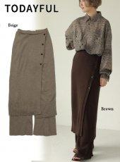 TODAYFUL (トゥデイフル)<br>Wraparound Knit Skirt  19秋冬.予約【11920808】タイトスカート 受注会