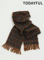 TODAYFUL (トゥデイフル)<br>Check Wool Stole  19秋冬.予約【11921063】マフラー・ストール 受注会