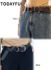 TODAYFUL (トゥデイフル)<br>Leather Vintage Belt  19秋冬.【11921066】その他