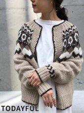 TODAYFUL (トゥデイフル)<br>Nordic Knit Cardigan  19秋冬.予約【11920536】ニットトップス
