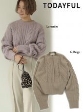 TODAYFUL (トゥデイフル)<br>Soft Cable Knit  19秋冬.予約【11920540】ニットトップス