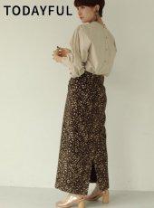 TODAYFUL (トゥデイフル)<br>Jacquard Leopard Skirt  19秋冬.予約【11920810】タイトスカート 受注会