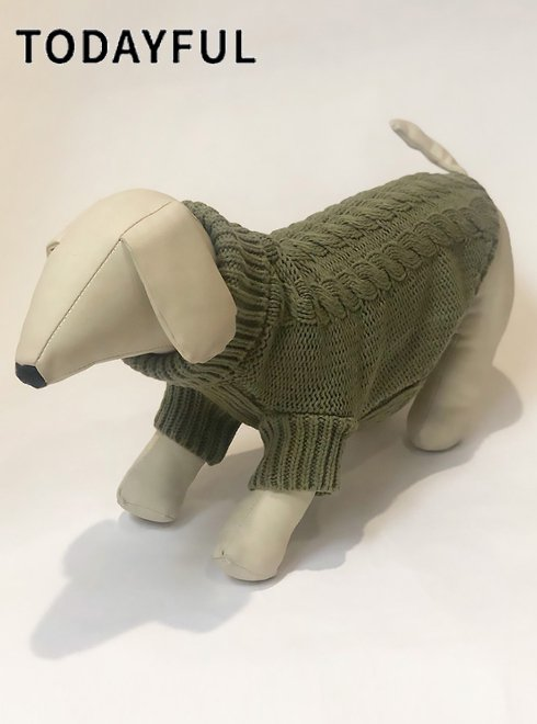 TODAYFUL (トゥデイフル)<br>Dog Cable Knit  19秋冬.【11921052】その他