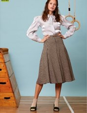 sister jane (シスタージェーン)<br>Gold Cup Tweed Midi Skirt  19秋冬.【20SJ0SK337】フレアスカート sister jane20 sale
