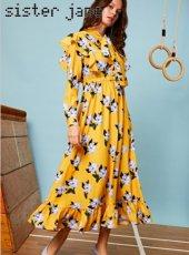 sister jane (シスタージェーン)<br>Spectate Floral Print Maxi Dress  19秋冬.予約【20SJ0DR1119】マキシワンピース
