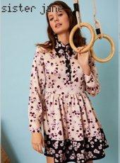 sister jane (シスタージェーン)<br>Mismatch Floral Mini Skater Dress  19秋冬.予約【20SJ0DR1122】フレアワンピース