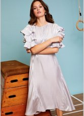 sister jane (シスタージェーン)<br>Ten Points Ruffle Midi Dress  19秋冬.【20SJ0DR1130】フレアワンピース
