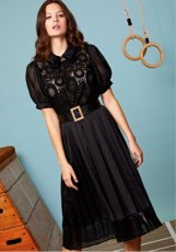 sister jane (シスタージェーン)<br>Tournament Lace Midi Dress  19秋冬.予約【20SJ0DR1132】フレアワンピース