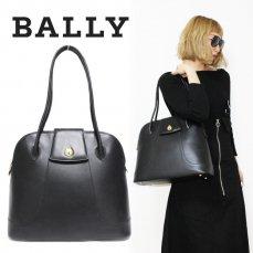 BALLY バリー ヴィンテージ<br>ボリード型レザーハンドバッグ【vintage By RiLish】ランクBAハンドバッグ