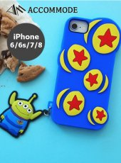 ACCOMMODE (アコモデ)<br>DISNEY PIXAR  SILICONE  CASE  iPhone6/6s/7/8  19秋冬 エイリアン【YY-D038】
