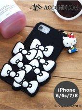ACCOMMODE (アコモデ)<br>KITTY SANRIO SILICONE RIBBON CASE iPhone6/6s/7/8  19秋冬 キティ【YY-SR013】