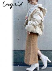 Ungrid (アングリッド)<br>フェザーヤーンフィットマキシニットスカート  19秋冬.予約【111960855201】フレアスカート
