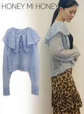 Honey mi Honey (ハニーミーハニー)<br>crochet mohair knit cardigan  19秋冬.予約【19A-SW-08】カーディガン