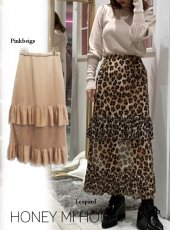 Honey mi Honey (ハニーミーハニー)<br>pleats tiered skirt  19秋冬.【19A-TA-29】フレアスカート
