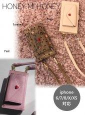 Honey mi Honey (ハニーミーハニー)<br>letter book iPhone  19秋冬.予約【19A-GB-22】iPhone・iPadケース 6/7/8/X/XS