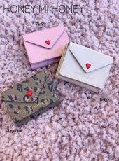 Honey mi Honey (ハニーミーハニー)<br>letter mini wallet  19秋冬.予約【19A-GB-36】その他