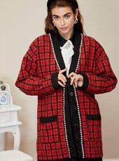 sister jane (シスタージェーン)<br>Check Check Longline Cardigan  19秋冬.予約【20SJ02CG009】カーディガン   クリスマス