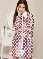 sister jane (シスタージェーン)<br>Polka Sequin Shift Dress  19秋冬.予約【20SJ02DR1139】フレアワンピース  クリスマス
