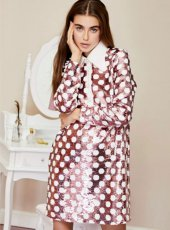sister jane (シスタージェーン)<br>Polka Sequin Shift Dress  19秋冬.【20SJ02DR1139】フレアワンピース  クリスマス