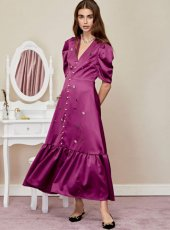 sister jane (シスタージェーン)<br>Boudoir Embellished Maxi Dress  19秋冬.【20SJ02DR1143】フレアワンピース  クリスマス sale