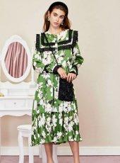 sister jane (シスタージェーン)<br>Flora Dorm Ruffle Midi Dress  19秋冬.【20SJ02DR1147】フレアワンピース  クリスマス