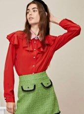 sister jane (シスタージェーン)<br>Rose Quarters Ruffle Shirt  19秋冬.予約【20SJ02BL883】シャツ・ブラウス  クリスマス