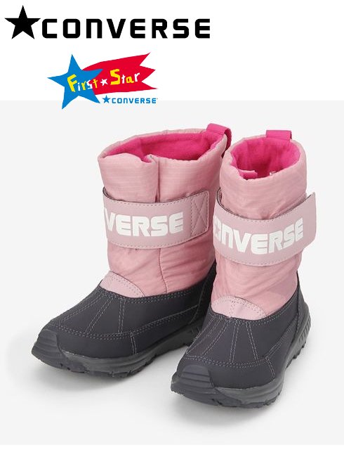converse(コンバース)<br>KIDS CVスターブーツ Child WR ピンク  19秋冬.【37300262】バッグ・シューズ converse20 sale 20es