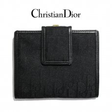 Dior ディオール ヴィンテージ<br>ロゴ総柄がま口二つ折り財布【vintage by RiLish】ランクABその他