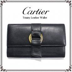 Cartier カルティエ ヴィンテージ<br>トリニティレザー長財布【vintage by RiLish】ランクBその他