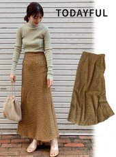 TODAYFUL (トゥデイフル)<br>Dot Flare Skirt  19秋冬.【11920807】ロング・マキシスカート