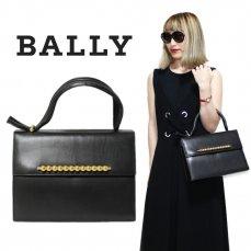 BALLY バリー ヴィンテージ<br>フロントモチーフレザーハンドバッグ【vintage by RiLish】ランクBA