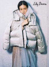 Lily Brown (リリーブラウン)<br>ビックフードダウンコート  19秋冬.予約【LWFC195005】ダウン