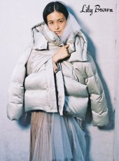 Lily Brown (リリーブラウン)<br>ビックフードダウンコート  19秋冬.【LWFC195005】ダウン