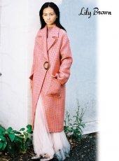 Lily Brown (リリーブラウン)<br>ツイードチェスターコート  19秋冬.予約【LWFC195001】ウールコート