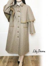 Lily Brown (リリーブラウン)<br>4wayケープコート  19秋冬.【LWFC195031】ウールコート
