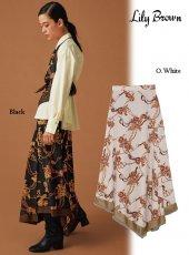 Lily Brown (リリーブラウン)<br>フラワーチェーン柄スカート  19秋冬.予約【LWFS195057】フレアスカート