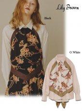 Lily Brown (リリーブラウン)<br>フラワーチェーン柄ラップシャツ  19秋冬.【LWFB195056】シャツ・ブラウス