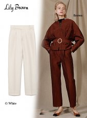 Lily Brown (リリーブラウン)<br>ジャガードセンタープレスパンツ  19秋冬.【LWFP196046】パンツ Lily Brown20 sale